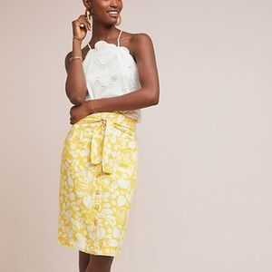 ANTHRO Colloquial Button-Front Pencil Skirt Sz 10